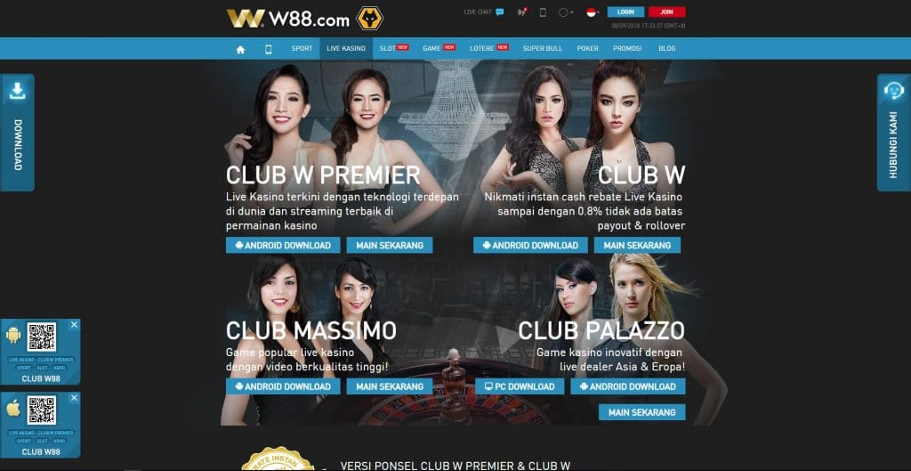 Bermain Di W88 Club