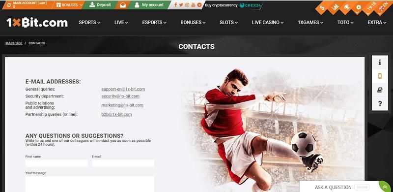 Layanan Pelanggan Layaknya Sultan - 1xBit.com