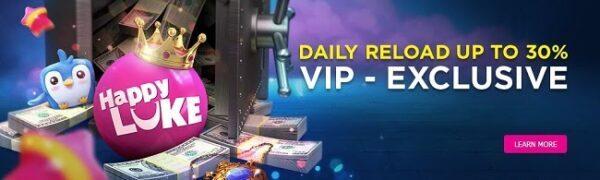Bonus harian untuk anggota VIP HappyLuke