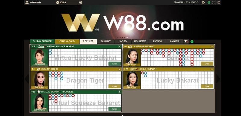 W88 Club Indonesia - Club Kasino Terbaik