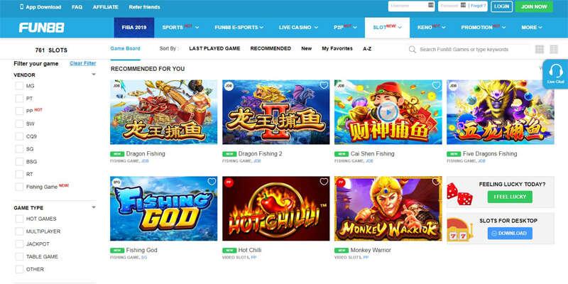 Aturan-Aturan Dasar Permainan Slot Game Fun88 Indonesia