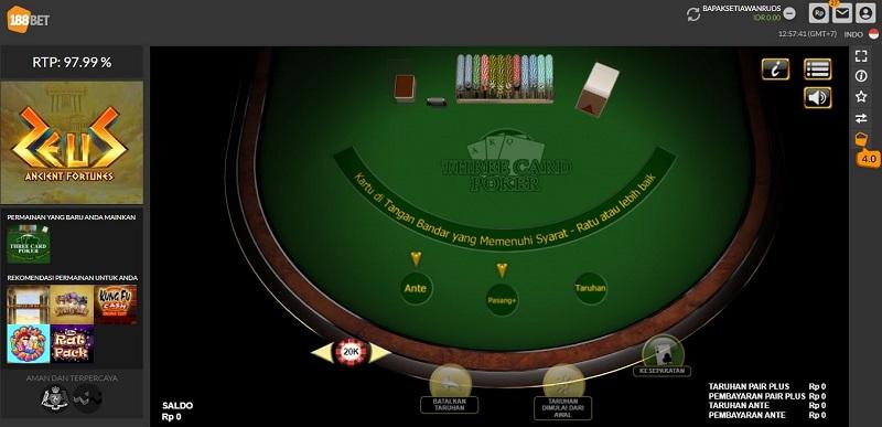 Dasar Utama dalam Bermain 188Bet Poker