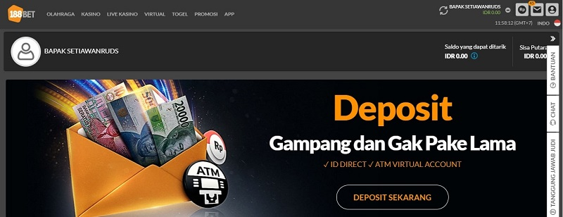 Cara Deposit 188Bet