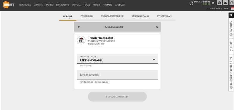 Transfer Bank Lokal untuk Setor Uang