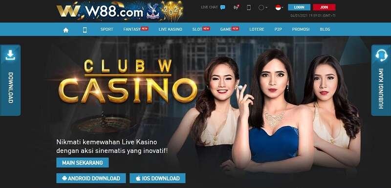 Bermain Judi Kartu di Live Casino Online W88