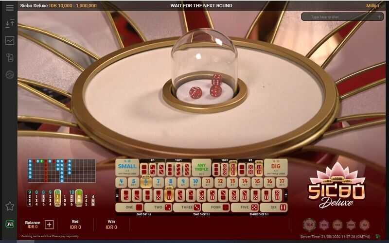 Mengenali Meja Permainan Sicbo W88