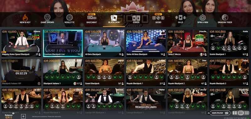 Produk Terpopuler di Casino W88: Blackjack