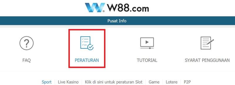 Memahami Berbagai Peraturan W88 Terkini